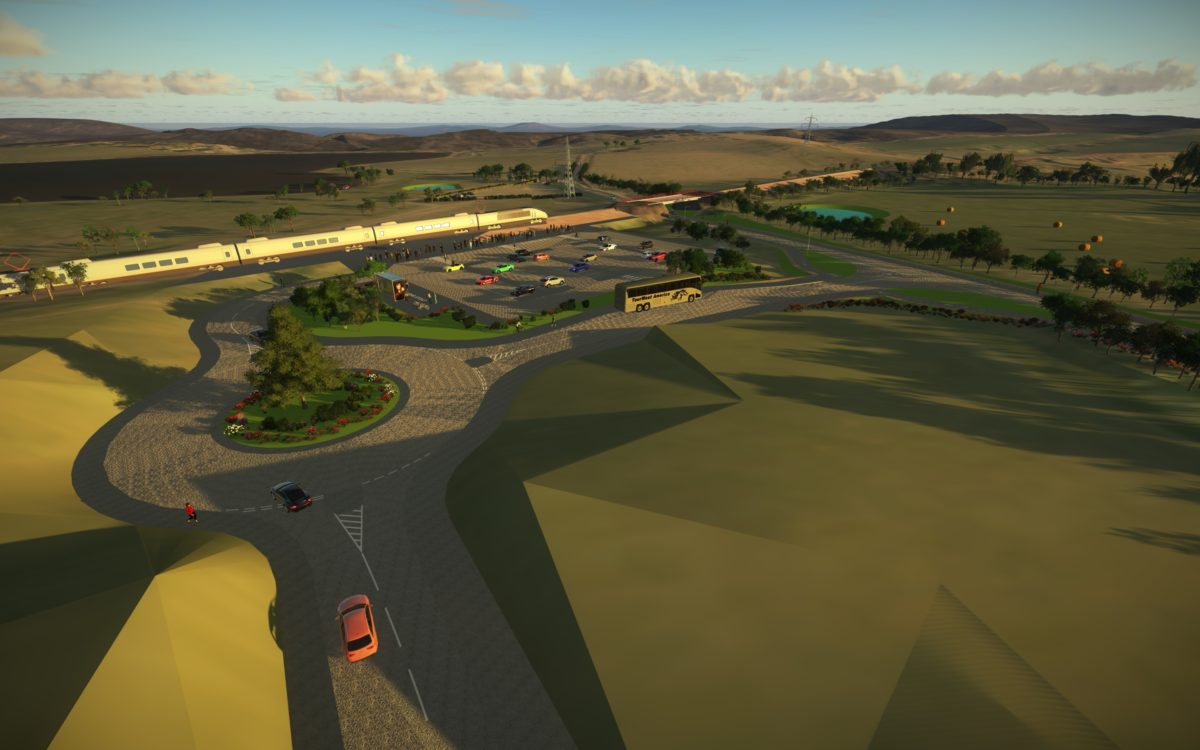 Image of new Barrhead South Station location