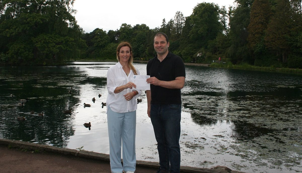 Cheque presentation to Cure Crohn's Colitis Charity