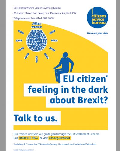 EU Settlement Scheme Support poster