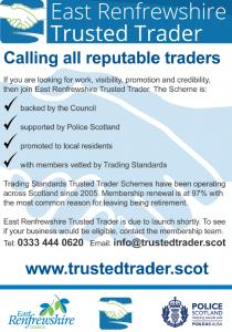 East Renfrewshire Trusted Trader Scheme flyer